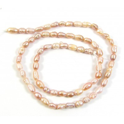 1 Strand Peach 5-6mm Rice Pearls