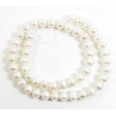 1 Strand White 10mm Round Freshwater Pearls