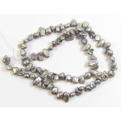 1 Strand Keishi Cornflake Grey Freshwater Pearls