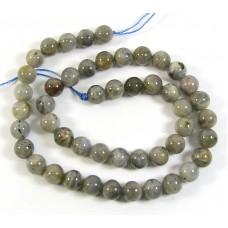 1 Strand 8mm Round Laboradite Beads