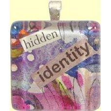 Handmade Glass Tile Pendant - Hidden Identity