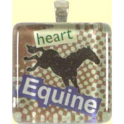 Handmade Glass Tile Pendant - Equine