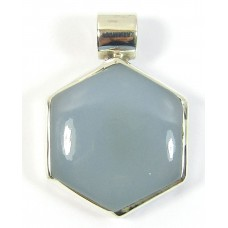 1 Silver and Blue Chalcedony Pendant