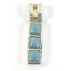 1 Silver and Turquoise Pendant