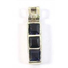 1 Silver and Iolite Pendant