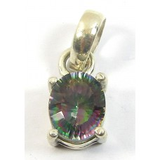 1 Mystic Topaz Fancy Cut Sterling Silver Pendant