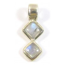1 Moonstone Sterling Silver Linear Pendant
