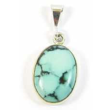 1 Turquoise and Sterling Silver Pendant