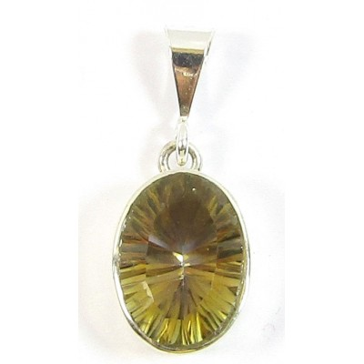 1 Mystic Topaz and Sterling Silver Pendant