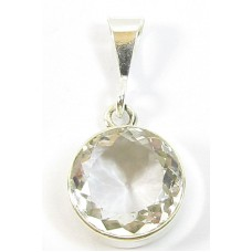 1 Sterling Silver and Rock Crystal Pendant