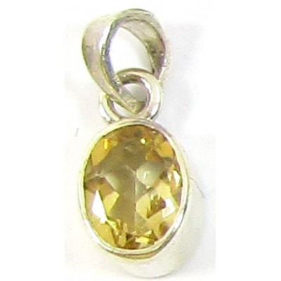 1 Small Sterling Silver and Citrine Pendant