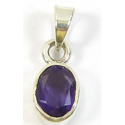 1 Small Sterling Silver and Amethyst Pendant