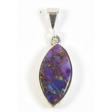 1 Purple Navaho Turquoise and Sterling Silver Pendant