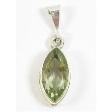 1 Sterling Silver Green Amethyst (Prasiolite) Pendant