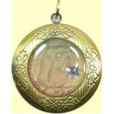 1 Handmade Brass Locket Pendant