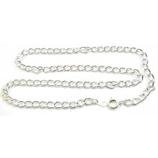 1 Silver Plated Heavy Curb Chain