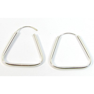 1 Pair Silver over Copper Triangle Ear Wires