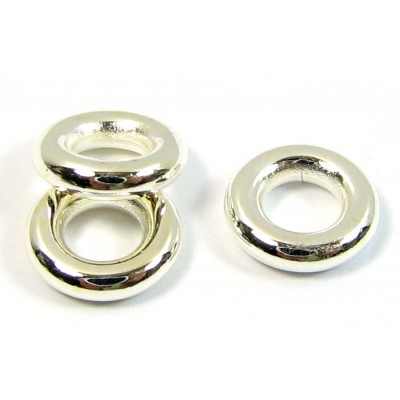 10 Silver Plated Chunky 8mm Rings
