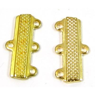 2 Gold Plated Bar Ends