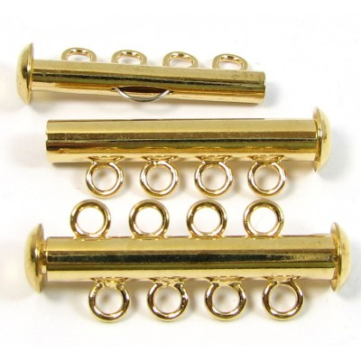 Multi Strand Clasp Gold Plated - 4 Strand