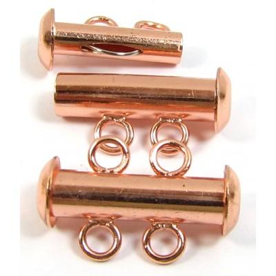 Multi Strand Clasp Copper Plated - 2 Strand
