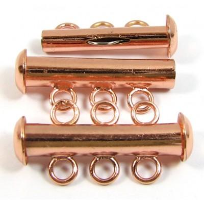 Multi Strand Clasp Copper Plated - 3 Strand