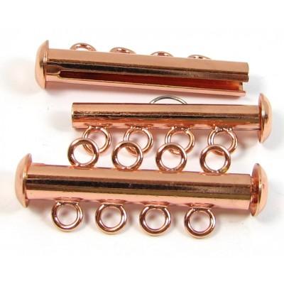 Multi Strand Clasp Copper Plated - 4 Strand