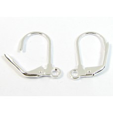 1 Pair Silver Plated Leverback Earrings