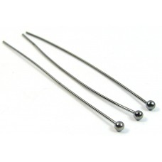 10 Black Plated Ball Headpins