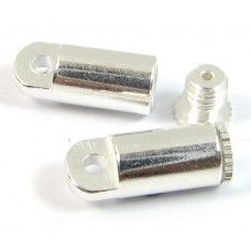 2 Silver Plated Bead Bandit End Caps