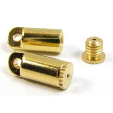 2 Gold Plated Bead Bandit End Caps