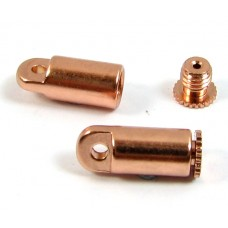 2 Copper Plated Bead Bandit End Caps