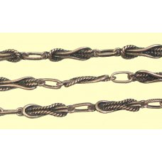 1 Centimetre Antiqued Copper Plated Rope Chain