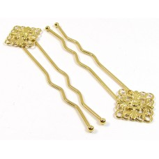1 Gold Plated Victorian Hair Grip