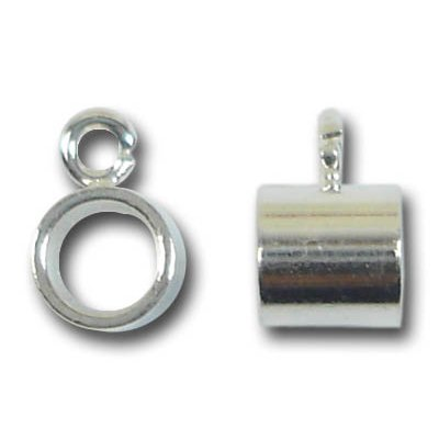 1 Silver Plated 4mm Dropper