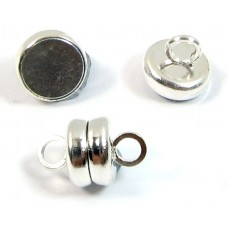1 Silver Plated Magnetic 6mm Clasp