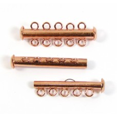 1 Multi Strand Clasp Copper Plated - 5 Strand