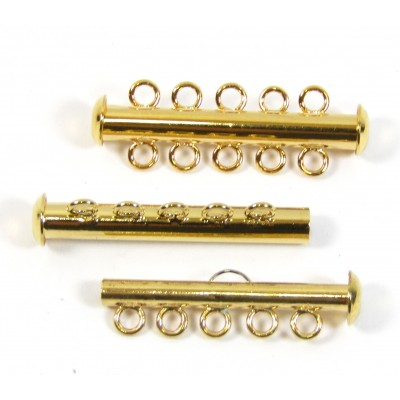 1 Multi Strand Clasp Gold Plated - 5 Strand