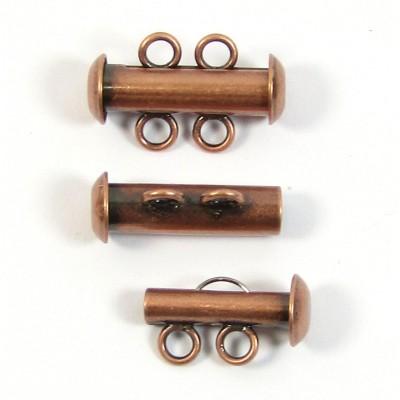 1 Multi Strand Clasp Antiqued Copper Plated - 2 Strand