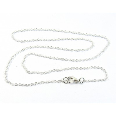 1 Silver Plated Trace Chain 45cm Necklace