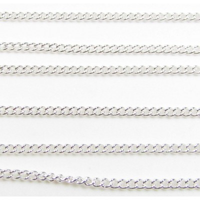 1 Centimetre Silver Plated 2mm Curb Trace Chain