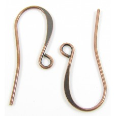 10 Pairs Antiqued Copper Plated Earwires