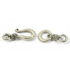 Antique Silver Plated Hook and Hook Clasp
