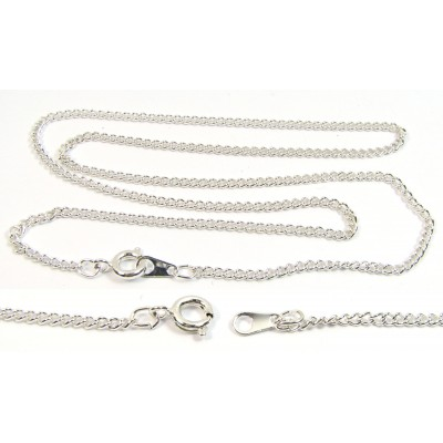 1 Silver Plated Curb 18 inch Chain