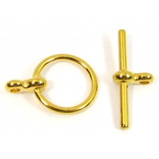 10 Gold Plated Toggle Clasps