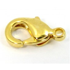 10 Gold Plated Lobster Clasps