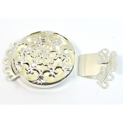 1 Silver Plated Multi Hole Box Clasp
