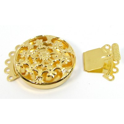 1 Gold Plated Multi Hole Box Clasp