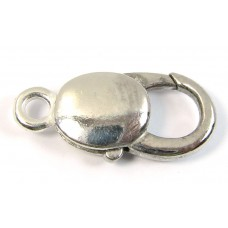 1 Large Silver Plated Lobster Clasp