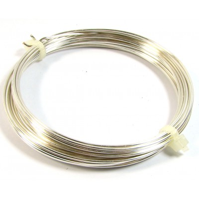 Coil Silver Plated Copper Jewellery Wire 1.25mm
